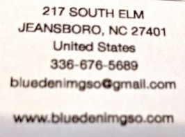 "The bottom of the check lists the address as ""Jeansboro"", NC."