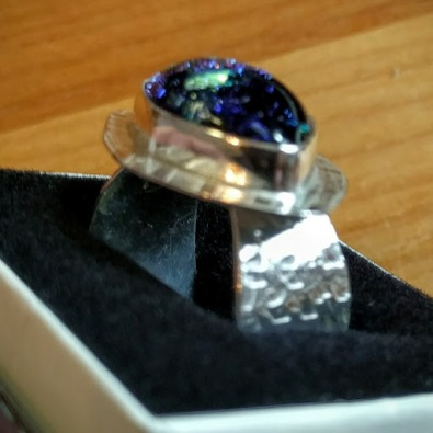 Sterling and dichroic ring